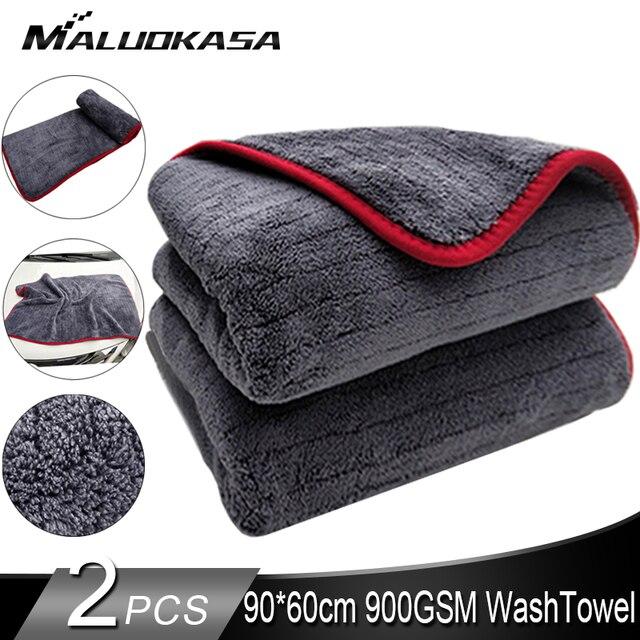 Trapo para coches 90x60cm detallado de coches trapo lavado coche microfibra toalla coche limpieza 900GSM microfibra gruesa para el cuidado del coche Cocina