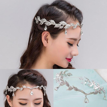 Stylish Simple Teardrop-shaped Crystal Crown Hair Accessories For Women New Fashion Bridal Wedding