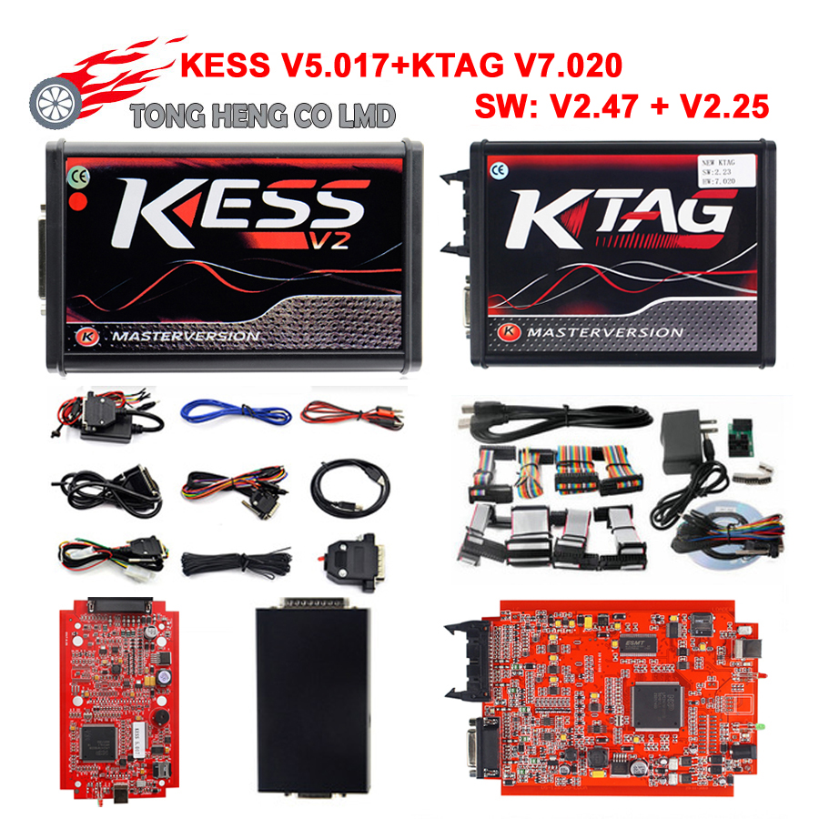 Online EU Red KESS V2 V5 017 5 017 V2 47 4 LED KTAG V7 020 V2 25 K-TAG 7 020 BDM Probe Adapters Master OBD2 Manager Tuning Kit