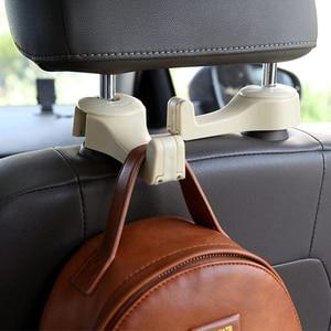 Image 2 - Universal Car Headrest Hook 5kg Max Car Back Seat Hanger with Phone Holder for Bag Handbag Purse Grocery Cloth Easy Install