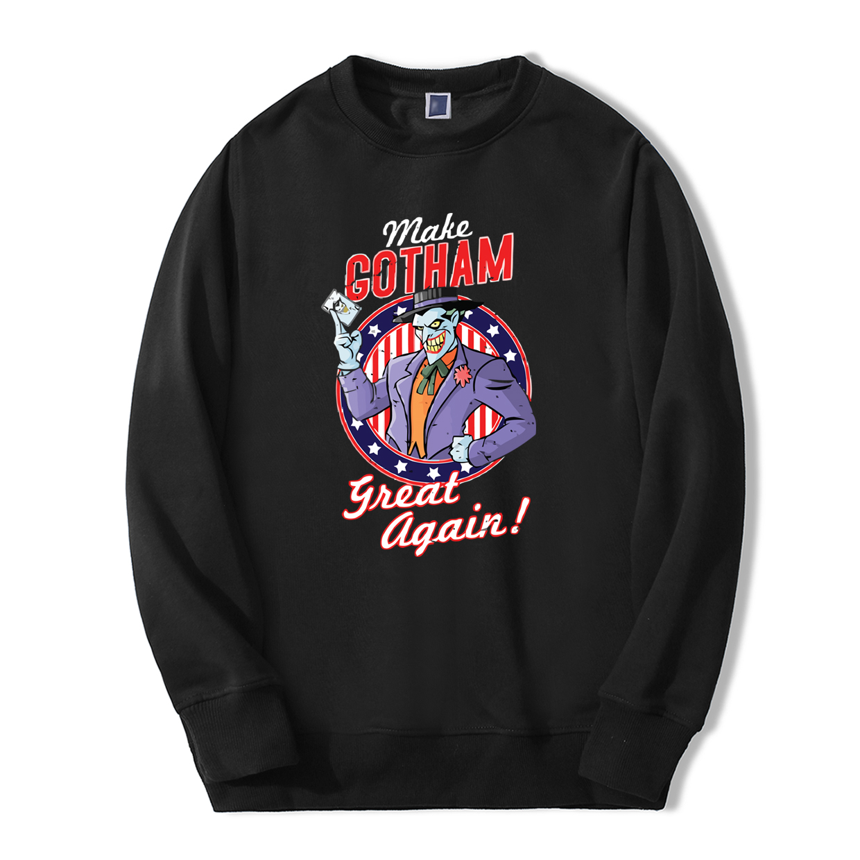 2019 Autumn Winter Men Sweatshirts Make Gotham Great Again Joker Warm Fleece Hoodies Casual fashion comic hip hop streetwear
