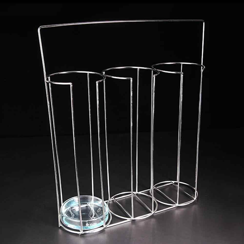 Petri Dish Shelf Petri Dish Portable Rack 3 Grids Stainless Steel Holder Experiment Tools Equipment Laboratory
