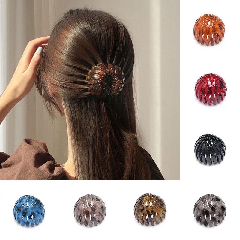 Moda kadın saç topuz kuş yuva genişleyen at kuyruğu toka saç tokası kadın at kuyruğu pençe iğneler bayanlar şapkalar saç aksesuarları