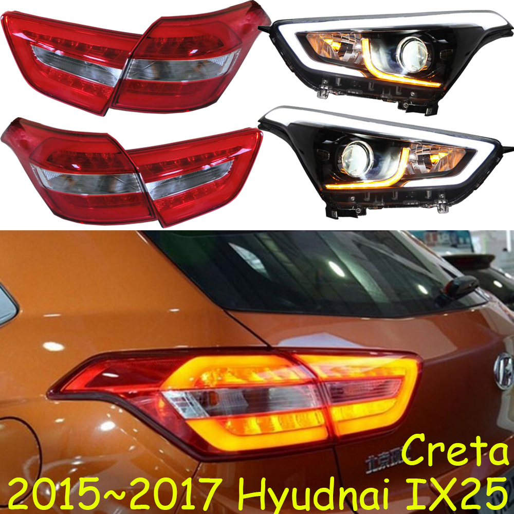 Original Ix25 Creta Taillight,2014~2016y Car Bumper Headlamp For Hyundai Creta Ix25 Headlight Ix25 Creta Rear Lamp