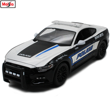 Maisto 1:18 2015 Ford Mustang GT Alloy Retro Car Model Classic Decoration Collection gift