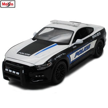 Maisto 1:18 2015 Ford Mustang GT Alloy Retro Car Model Classic Car Model Car Decoration Collection gift maisto 1 18 2017 ford gt yellow silver blue car diecast exquisite luxury car toy model collecting car model for men gift 31384