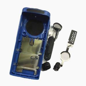 Image 2 - غطاء مبيت أزرق لراديو Motorola GP340 ، غطاء أمامي ، غطاء غبار ، طقم إصلاح