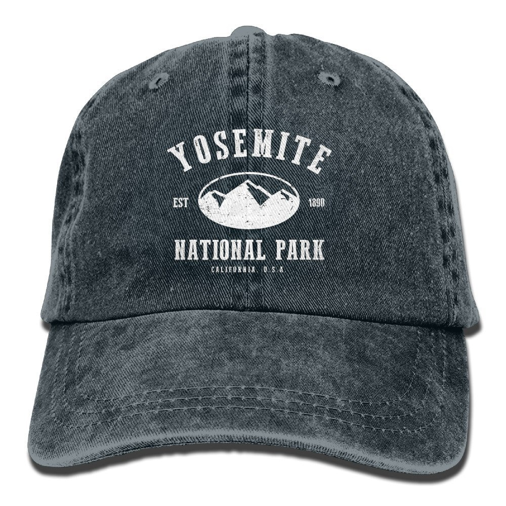 Yosemite National Park Retro Washed Dyed Cotton Adjustable Baseball Cap Navy