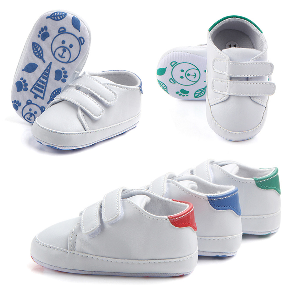 Infant Toddler Baby Boy Girl Soft Sole Crib Shoes Sneaker Newborn Velcro Shoes Soft Bottom Baby Toddler Shoes