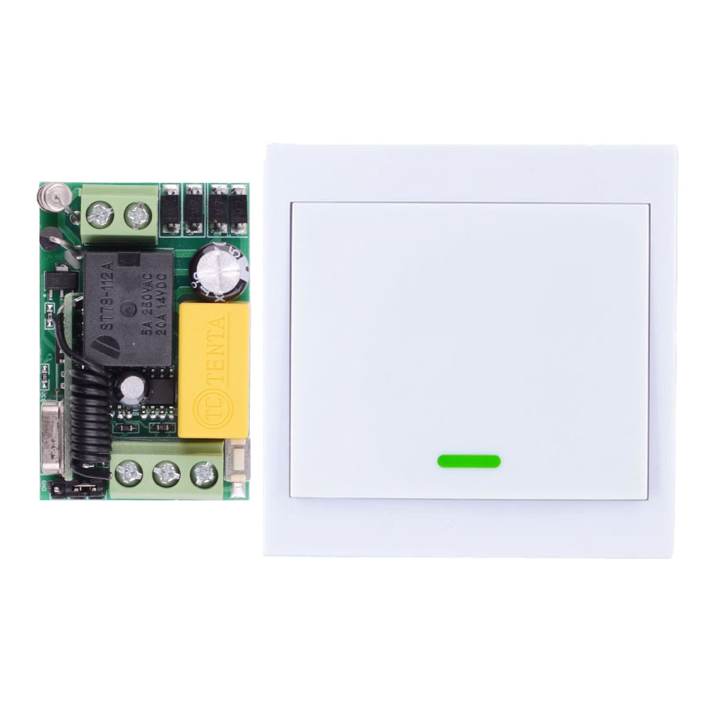 Wireless Remote Control Switch AC 220V Receiver Wall Panel Remote Transmitter
