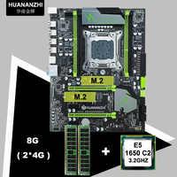 Sconto HUANANZHI X79 Pro scheda madre fascio dual M.2 slot scheda madre di marca con CPU Intel Xeon E5 1650 3.2GHz RAM 8G RECC