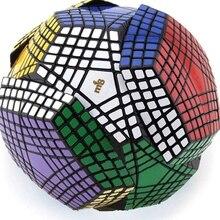 Coleção mf8 petaminx stickered cubo mágico quebra cabeça coletado dodecaedro 9x9 velocidade coleção quebra cabeça mágico megaminxsed cubo