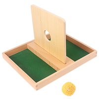 Infant and Tollder Montessori Imbucare Ball Board With Yellow Flip Lid Knit Ball Infant 8 12 Months Home Games Toys for Children