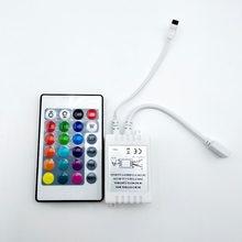 24 Keys Wireless RGB LED Light Controller Ir Remote 12V Dimmer for LED Strip Connector