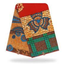 Настоящая ткань Анкары африканская восковая с принтом 6 ярдов/шт