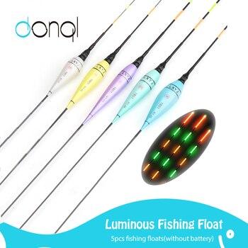 DONQL 5Pcs LED Luminous Electronic Fishing Float Colorful Light Night Fishing Float (Excludes Battery)