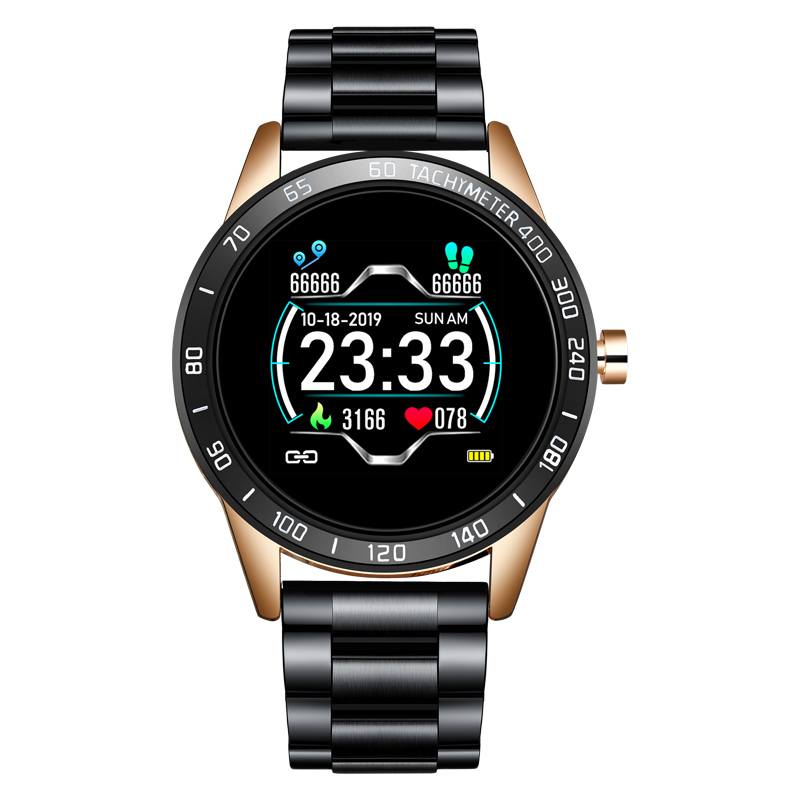 2020 New steel band Men smart watch Waterproof sport for Xiaomi iPhone information Heart rate monitor smartwatch Fitness tracker 8