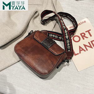 Image 4 - MAIYAYA Leather Shoulder Bag For Woman 2020 New Fashion Small Crossbody Bags Zippers Decoration Spring Flap Bags Messenger Bag