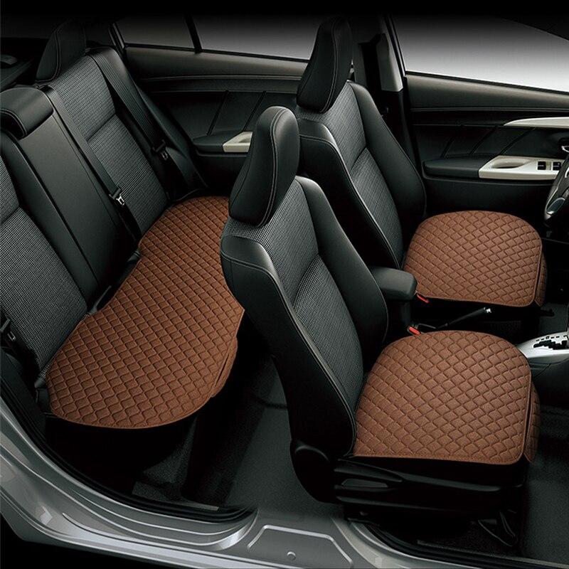 Mat Office-Chair Cushion-Pad Car-Seat-Cover Linen Auto-Supplies Fabric 3 for Four-Seasons