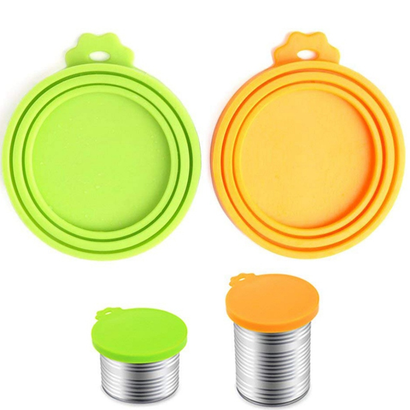 Pet Silicone Canned Lid Cover Sealed Feeders Food Can Lid Dog Cat Storage Top Cap Reusable Cover Lid Health Pet Daily Supplies N
