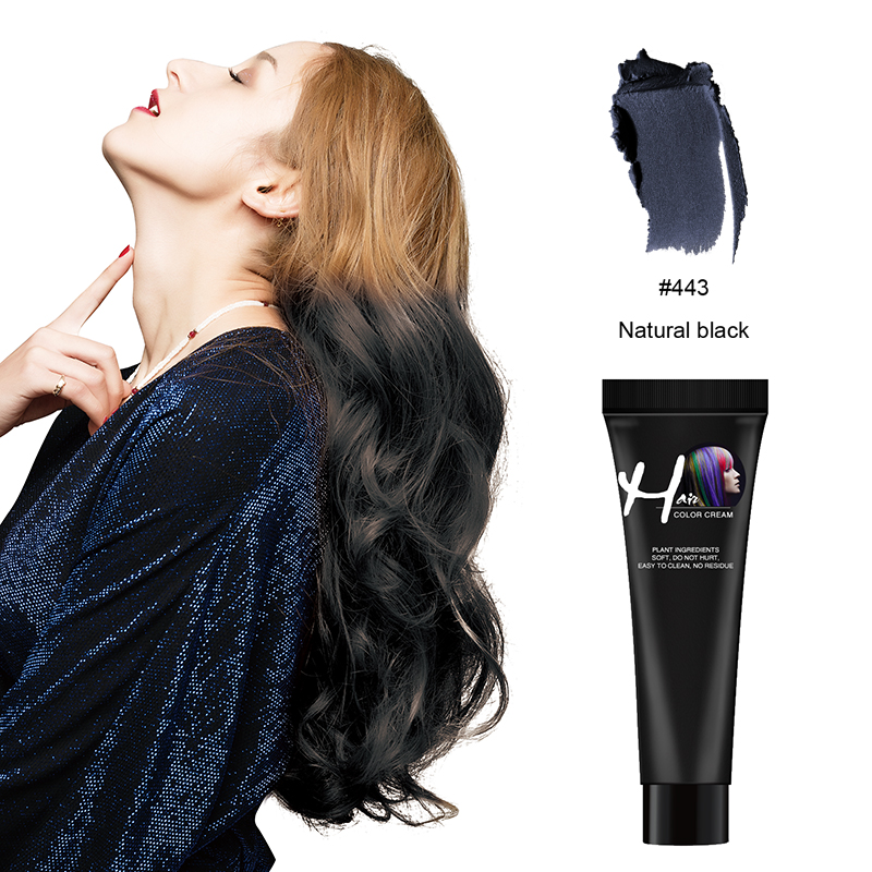 Zation Professional Hair Color Wax Long Lasting Hair Dye  Not Hurt Hair Fast One Time Hair Wax Grandma Grey Color Hair Color
