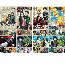 Demon Slayer Posters Japanese Anime Poster Art Prints for Home Wall Decor, Set of 8 PCS, 11.5in x16.5in