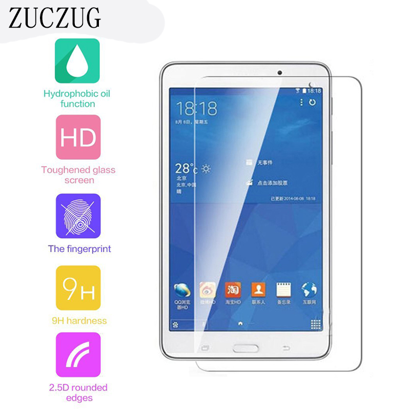 9H 2.5D Explosion Proof Tempered Glass Film For Samsung Galaxy Tab 4 T230 T231 T235 T239C 7.0