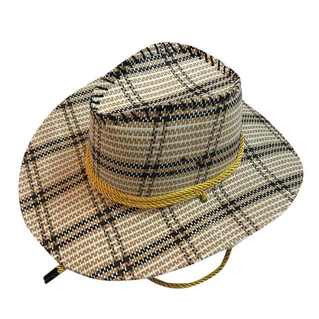 Casual Solid Western Cowboy Hat Wide Brimmed Hats For Women Anti-UV Sun Hat Foldable Straw Cap Beach Hat Wholesale Zer