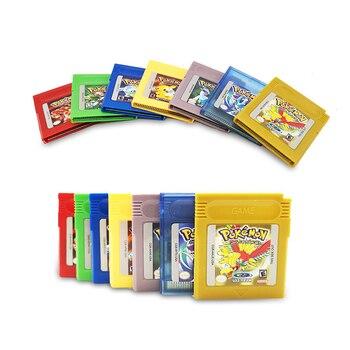 Серия Pokemon 16 бит видеоигра картридж консоль карта для Nintendo GBC Классическая игра сбор красочная версия Английский язык