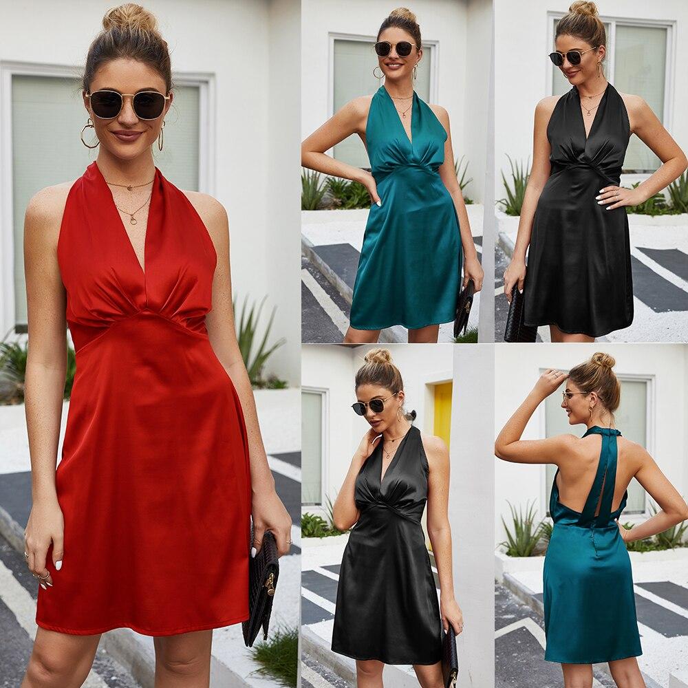 Купить женское платье с v образным воротом сексуальным вырезом на спине