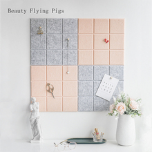 Note-Board Planner Felt Home-Decoration Nordic-Style Letter Wall-Decor Photo 4pcs Office