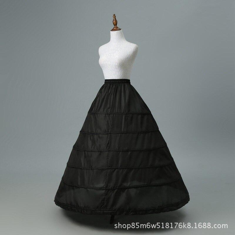 Special Offer Black/white Six Steel Ring Ultra-peng Da Slip Dress Bride Marriage Yarn Performance Formal Dress Accessories Crino