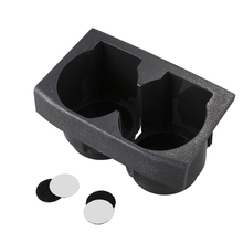Car Front Center Console Dual Water Cup Holder Insert Black