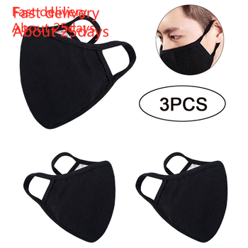 In Stock Mask Mouth Mask 3pc Reusable Cotton Comfy Breathable Safety Air Fog Respirator Masks for Women Fast Delivery tanie i dobre opinie mascarilla coronavirus Węgiel aktywny Torby Pokój mask coronavirus