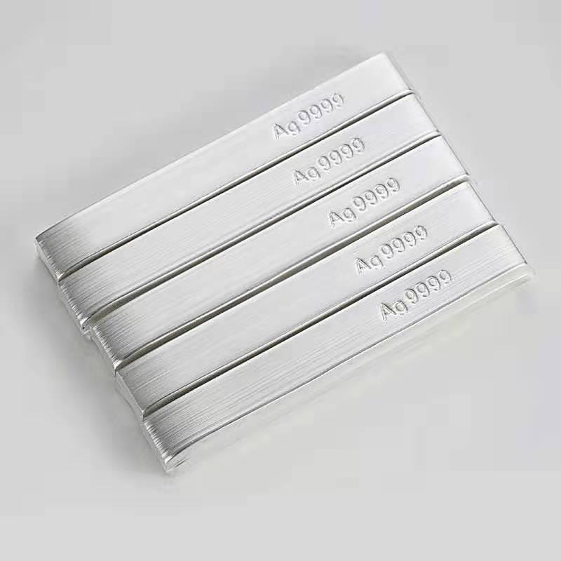 Fornecimento puro 99.99% prata ag metal/alvo/lingote preço