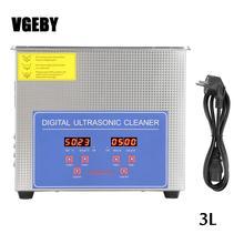 Nettoyeur ultrasonique dacier inoxydable de 3L avec la catégorie commerciale mécanique de réchauffeur pour les verres de montre de bijoux de composants électroniques