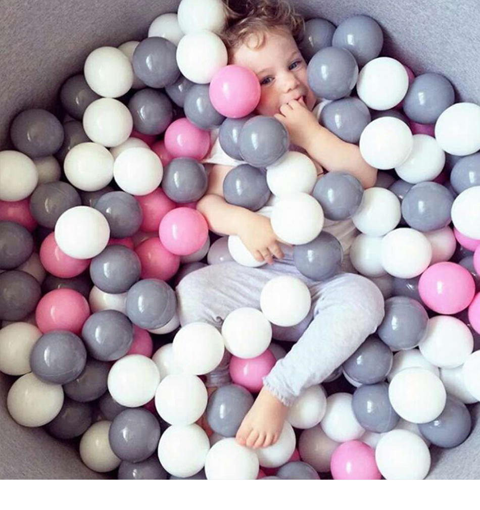 100pcs/Lot 7cm Plastic Ocean Balls Kids Swim Pit Toy Outdoor Fun Dry Pool Wave Game Eco-Friendly Colorful Soft Ocean Sphere(China)