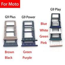 5Pcs Originele Nieuwe Sim Card Tray Slot Houder Voor Moto G9 Play / G9 Plus / G9 Power/g10 Sd Adapter Vervangende Onderdelen
