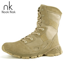 Original Genuine Leather Men Desert Tactical Boots Outdoor Sports Hiking Shoes Wear-resisting Army Ankle Boots Camping Shoes outdoor camping mountain high tube anti skid wear resistant shoe sneaker men tactical military ankle shock absorber desert boots