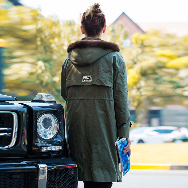 Natural Mink Fur Jacket Winter Warm Thickening Hooded Fur Coat Top Quality Parkas Chaquetas Invierno K168716 MF430