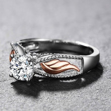 Fashion Clear Cubic Zirconia Engagement Rings for Women White Gold and Rose Gold Color Wedding Jewelry Bridal Gifts Dropshipping eleple classic wedding rings for women cubic zirconia white gold color ring gifts for lovers engagement jewelry supplier vsr013