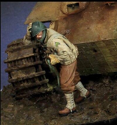 1/35  US  Keep Head Down (NO TANK )  Resin Figure Model Kits Miniature Gk Unassembly Unpainted