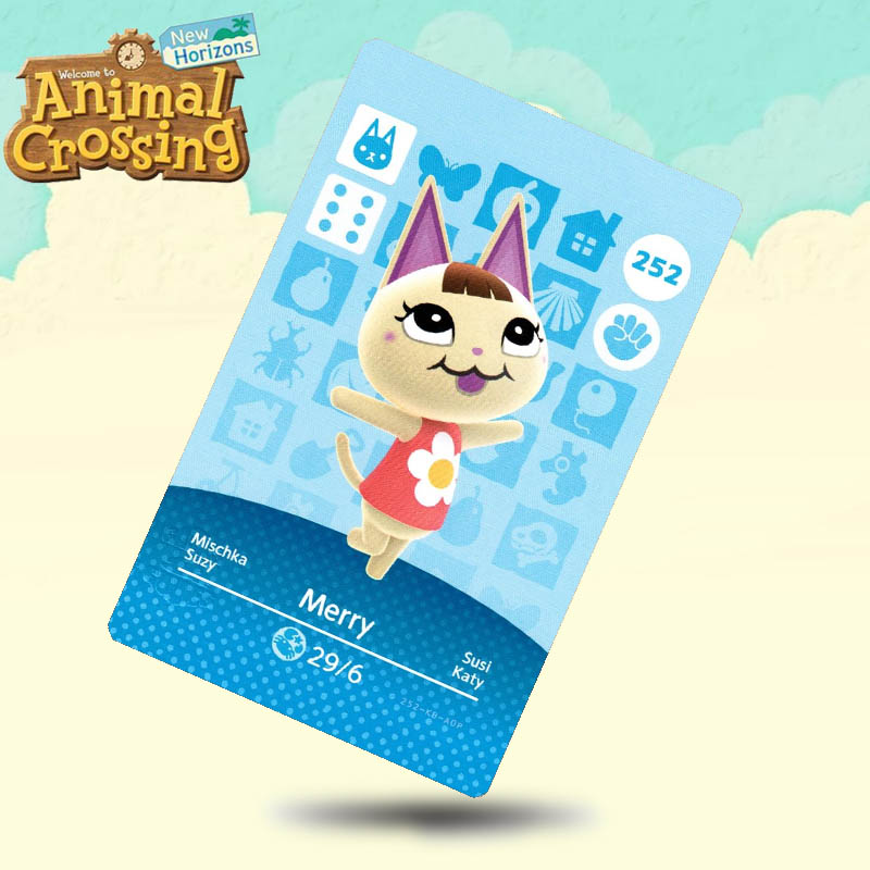 252 Merry Animal Crossing Card Amiibo Cards Work For Switch NS 3DS Games
