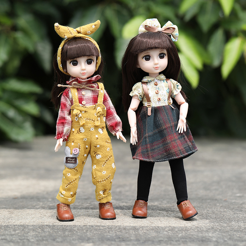 New 32cm 12 Inch BJD Doll 22 Movable Joints Makeup Dress Up BJD Dolls with fashion Clothes Set and box for Girls Toy Gifts|Dolls|   - AliExpress