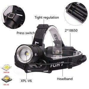 Image 4 - Xlamp XHP70.2 Led פנס USB נטענת XHP50 פנס סופר מואר V6 ציד רכיבה על אופניים מנורת שימוש עמיד למים 18650