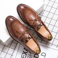 Yomior Luxus Marke Neue Designer Schuhe Männer Hohe Qualität Casual Schuhe Vintage Quaste Formale Kleid Schuhe Hochzeit Faulenzer Wohnungen