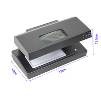 UV/MG/WM Counterfeit Money Detector Portable Fake Banknote detecting Equipment with magnifying lens function