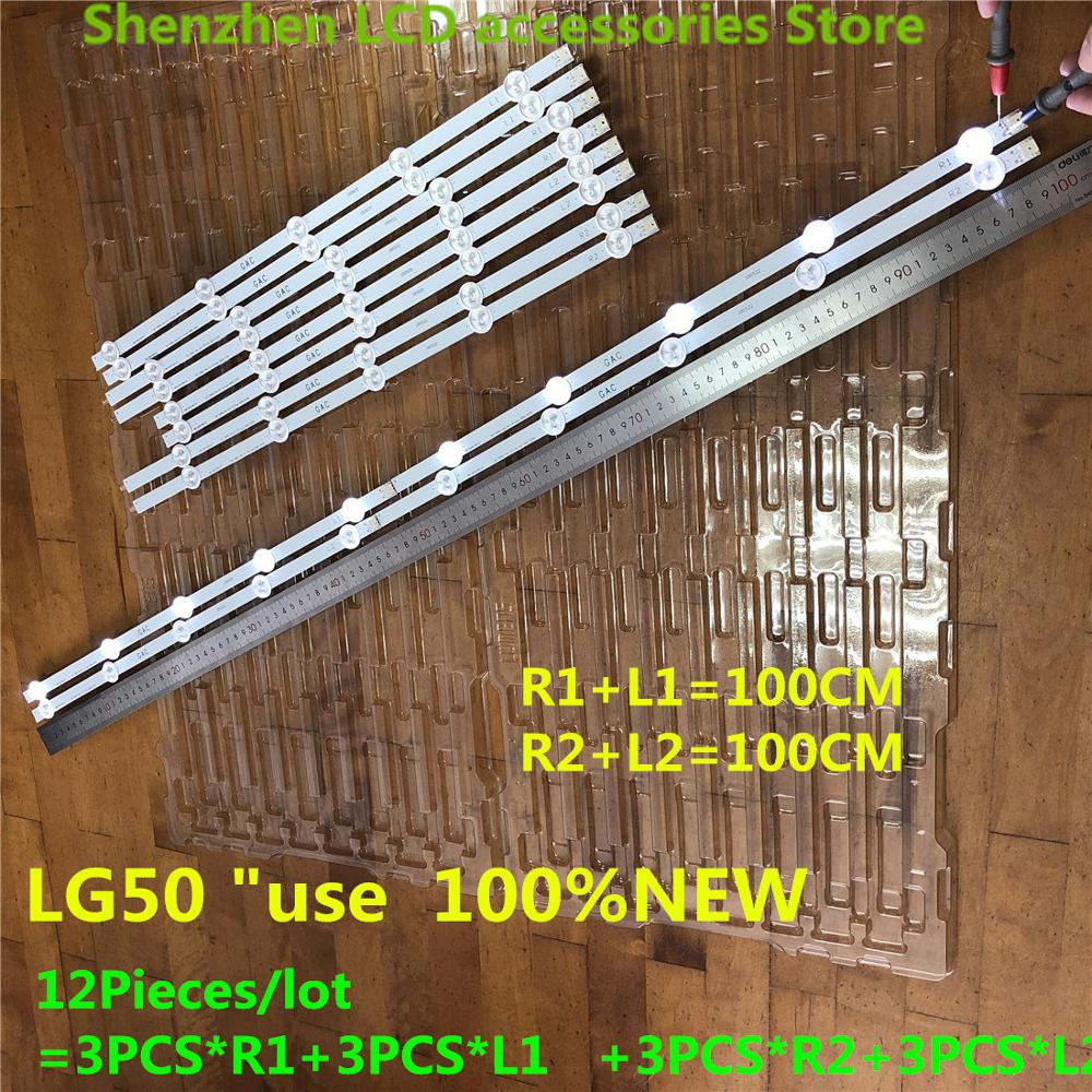 Original 12 PCS(3*R1 3*L1 3*R2 3*L2) LED Backlights For 6916L-1273A 6916L-1241A 6916L-1276A 6916L-1272A LG 50LN5400  100%NEW