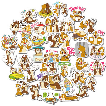 40Pcs Cartoon Disney Chip 'N' Dale Sticker Children's Classic Toy Mobile Phone Water Cup Waterproof Hand Account - discount item  49% OFF Classic Toys