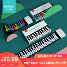 Beiens portátil 49 teclas de teclado digital rolo up piano silicone mão elétrica piano presente para crianças brinquedo da criança instrumentos musicais